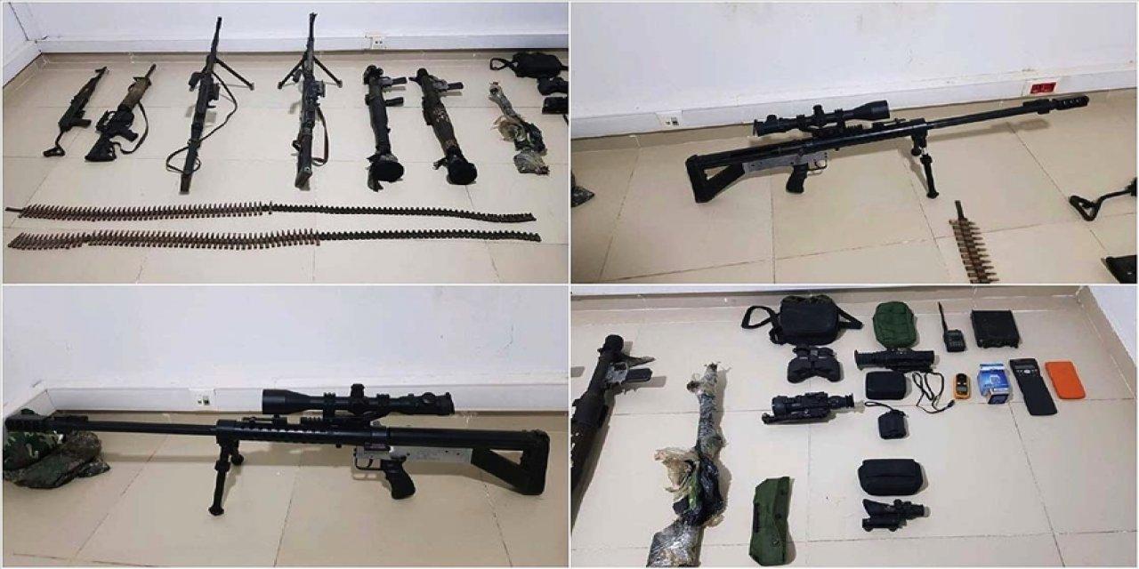 PKK'nın sivil vatandaşları canice şehit ettiği Gara'daki mağarada çok sayıda silah ve mühimmat bulundu