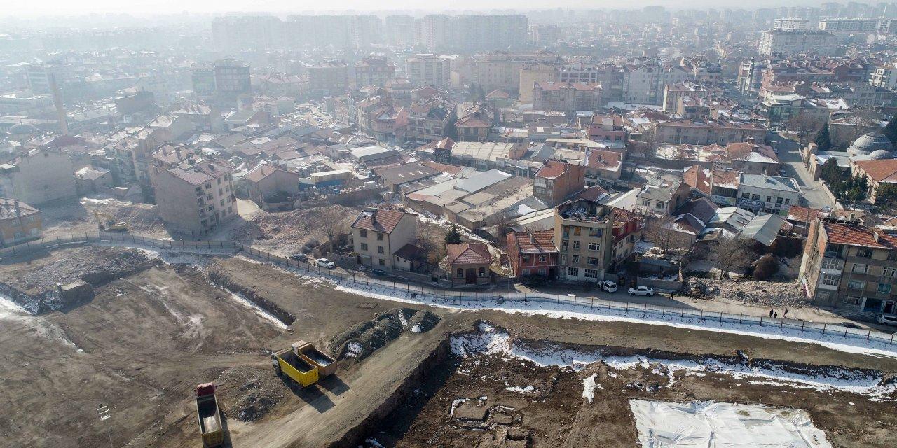 Tarihi Konya surları gün yüzüne çıkıyor