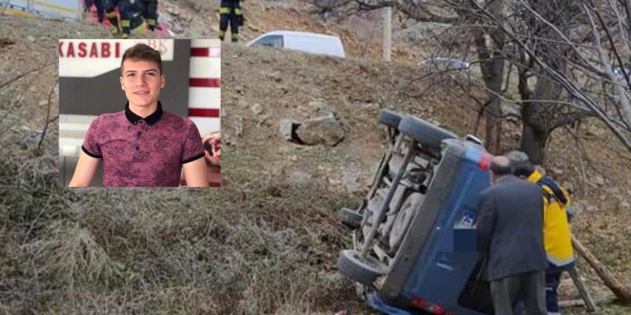 Konya'da yoldan çıkan araçtaki genç hayatını kaybetti