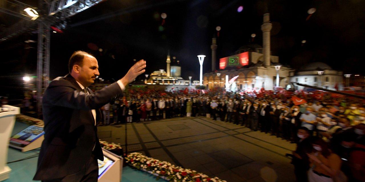 15 Temmuz'un 5. yılında binlerce kişi Mevlana Meydanı'nda buluştu