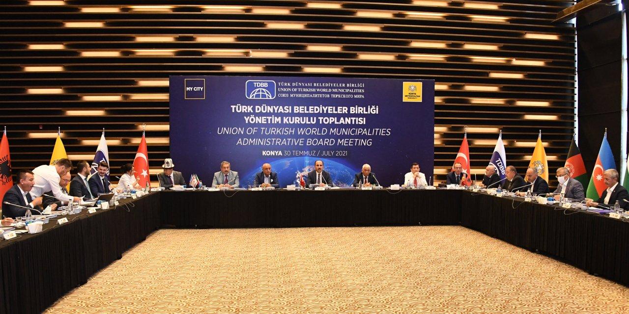 Türk Dünyası Belediyeler Birliği Yönetimi Konya'da toplandı! Başkan Altay'dan önemli mesajlar